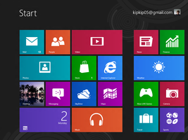 Just the startscreen of Windows 8 by jovco111