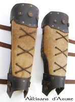 Barbarian greaves by ArtisansdAzure
