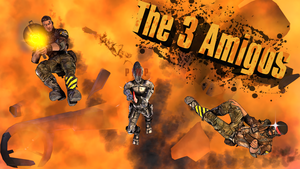 The 3 Amigos (3D Title Version). by GeniusGT