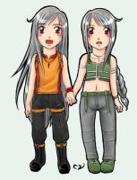 Chibi Twins Colored by Mila-Valentine