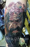 Rob Zombie Tattoo by NickDAngeloTattoos