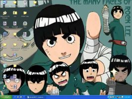 rock lee desktop I made by creativeinsomniac