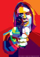 KURT COBAIN in WPAP Style by prie610