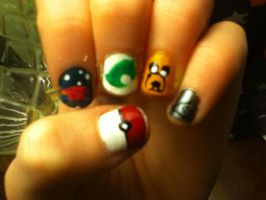 Nerd Nails by booklover1997