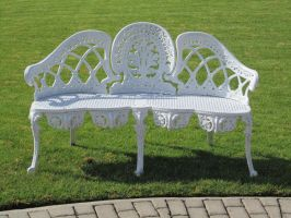 White Bench Stock 2 by chamberstock