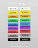 Web Buttons Nr. 1  Free PSD by WillyEpp