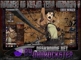 Eren Yeager Theme Windows 8 by Danrockster