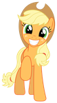 MLP: Very happy (and adorable) Applejack by FloppyChiptunes
