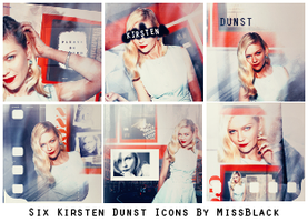 Six Kirsten Dunst Icons by EmeliaJane