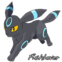 Shiny Umbreon Pixel by Fishlover
