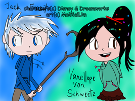 ST: Jack Frost and Vanellope von Schweetz finished by MaiMaiLim
