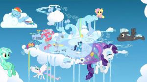 Quiet Day In Cloudsdale Wallpaper by Hidan475