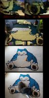 Snorlax WIP by Melyntenshi