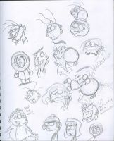 Ed Edd n Eddy and South Park Doodles by squeaken1