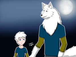 My character as a White Werewolf / Anthro Wolf by JackFrostOverland