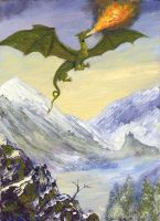 Young Alpine Dragon by dashinvaine