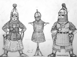 Medieval Persian Women Warrior Sketch by Gambargin