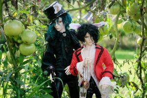 Hatter and Bunny by Benihime-Yuki