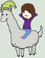 OMG I'M RIDING CARL!!!!! by Ayleia-The-Kitty