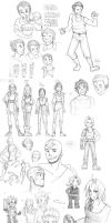 sketches :: Bolin, Aang, Edward, Vash, and more~ by rockinrobin