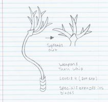 Weapon: Thorn Whip SKETCH by Code-Sonic