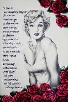 Marilyn Monroe by AndyVRenditions