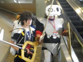 Otakon 2013 - Sora and Sir Daniel by mugiwaraJM