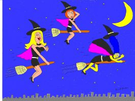Witches of the Sky by broad86new