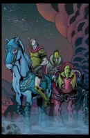 The Four Horsmen colored by lav2k