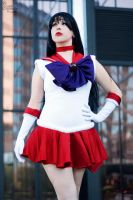 Sailor Mars: Soldier Draped in Red by BlackRoseMikage