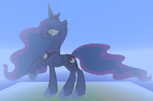 Princess Luna Pixel Art by SixSamMaster