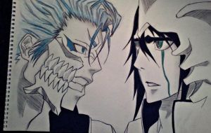 Grimmjow and Ulquiora by Animeluvful