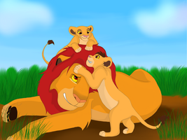 Simba and his Kids Playing by SHINeeWorld96