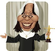 Whoopi Goldberg by diplines
