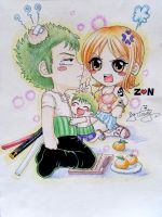 Zoro Nami by Cloudy by BelleLoveZoro