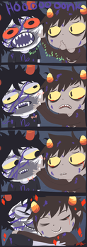 Karkat and Gamzee Hug by The-EverLasting-Ash