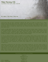 Free Misty Morning CSS by moonfreak
