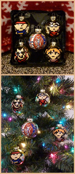 EarthBound Beginnings Christmas Bulbs by DragonKazooie89