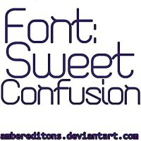 Font:Sweet Confusion by AmberEditions