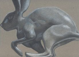 colored pencil rabbit by baby-snakes
