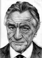 Robert Deniro Ballpoint Pen Portrait by AllisonTamagna