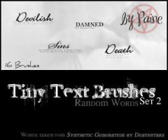 Tiny Text Brushes Set 2 by NemesisDivina666