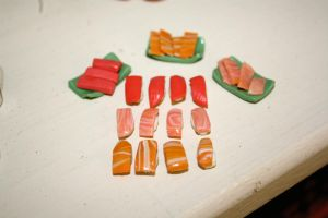 miniature sushi by star--crossed