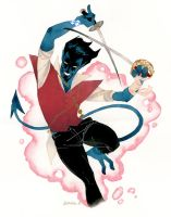 Nightcrawler the Swashbuckler by kevinwada