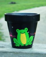 Happy Frog Planter by ChumpShoes