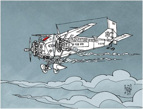 Adventure Airlines - sketch by tomzoo