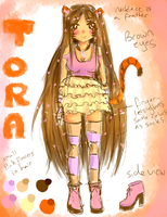 Tora reference sheet by TaitRochelle