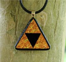 Large Triforce Fused Glass by FusedElegance