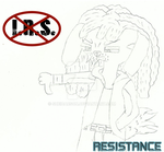 Sketched Artwork: F**K The I.R.S. by SheiKorutesuGuranto