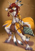 Indian wolf by playfurry